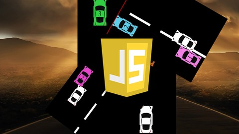 Image of Course: JavaScript Car Driving Game from scratch with source code